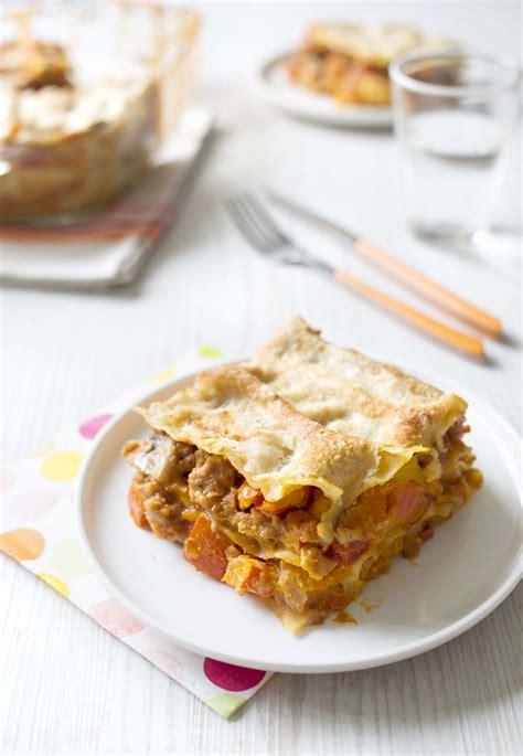 cuisiner seitan lasagnes au potimarron et seitan recettes de cuisine