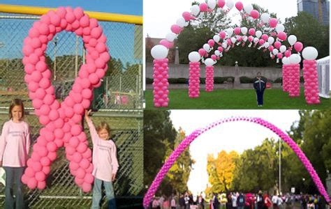 breast cancer awareness balloon sculptures golden openings