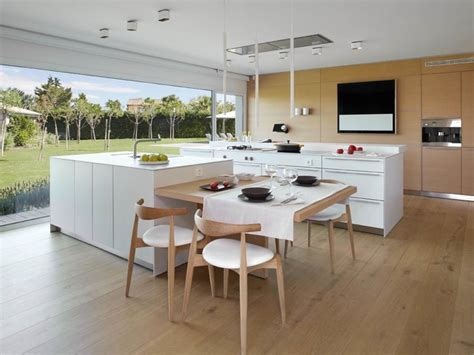 cuisine dinatoire aménager sa cuisine 15 îlots de cuisine avec coin repas intégré