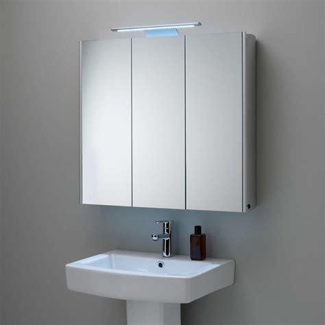 roper rhodes absolute triple mirrored illuminated bathroom