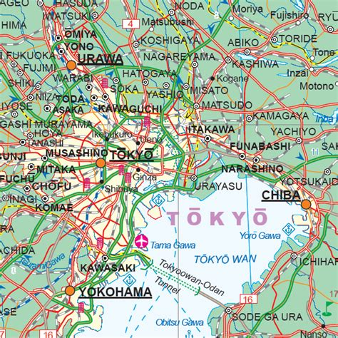 central japan tokyo travel refer map