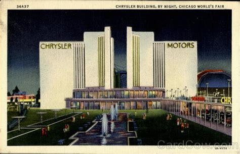 chrysler building  night  chicago world fair