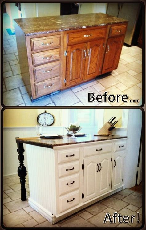 Kitchen Island Renovation Ideas by Diy Kitchen Island Renovation Maybe Do This To Our Buffet