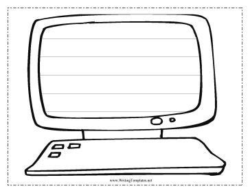 computer picture template printable keyboard for kids clipart best