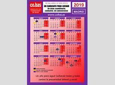 Calendario Laboral 2019 Madrid cobas ES