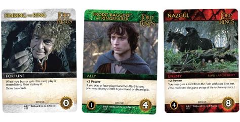 lotr the fellowship of the ring deck building game