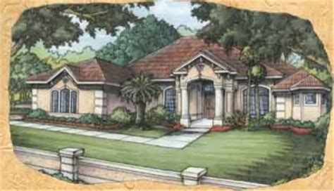 Mediterranean Style House Plan 3 Beds 3 Baths 2843 Sq/Ft