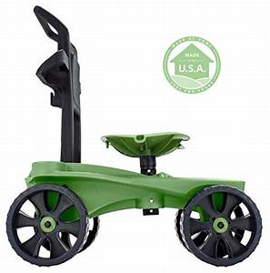 Easy up deluxe xtv rolling seat and scoot gardening for Garden scooter seat