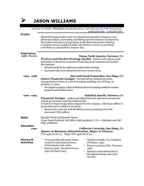 Chronological Resume Builder by Resume Format Resume Format Uk Style