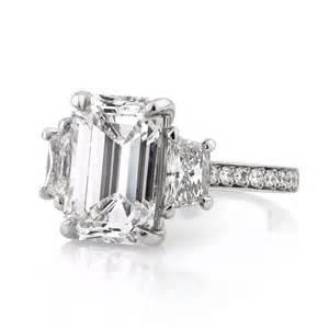 emerald cut three engagement ring 7 18ct emerald cut three engagement ring engagement rings and wedding rings