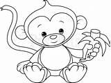Monkey Coloring Pages Monkeys Drawing Swinging Colouring Template Printable Edit Spider Drawings Getcolorings Cartoon Animal Pag Sketch Simple Getdrawings Info sketch template