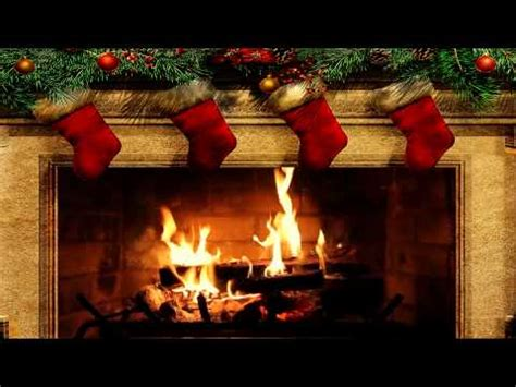 christmas fireplace scene  crackling fire sounds