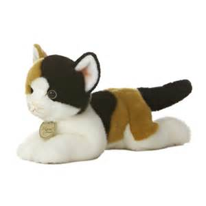 stuffed animal cats realistic stuffed calico cat 11 inch plush animal by