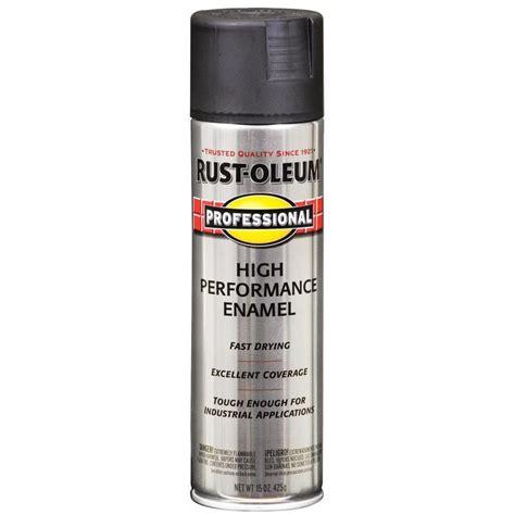 Shop Rustoleum Professional Black Enamel Spray Paint