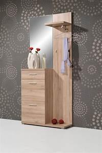 Garderobe Sonoma Eiche Weiß : welcome kompakt garderobe mit spiegel schuhschrank paneel in sonoma eiche diele flur ~ Bigdaddyawards.com Haus und Dekorationen