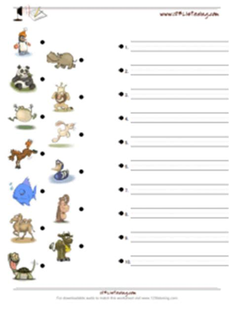 print   listening worksheets match  picture