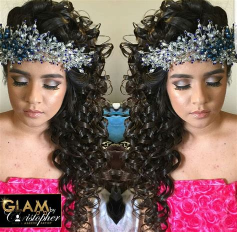 glambychristopher for quince 241 earas quinceanera hairstyles hair styles quinceanera shoes