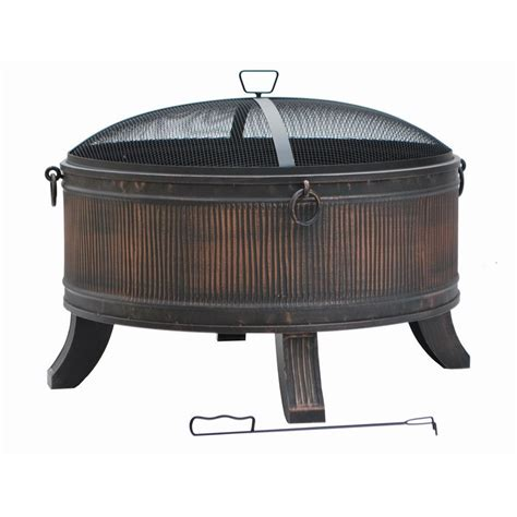 hampton bay emberjack    steel fire pit ft