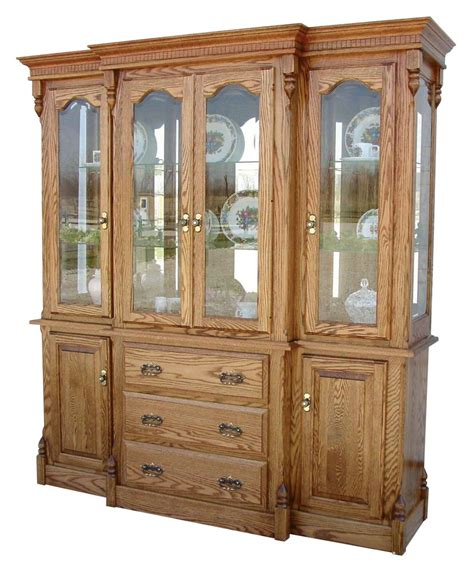 Solid Wood Hutch - amish dining room hutch traditional china cabinet solid