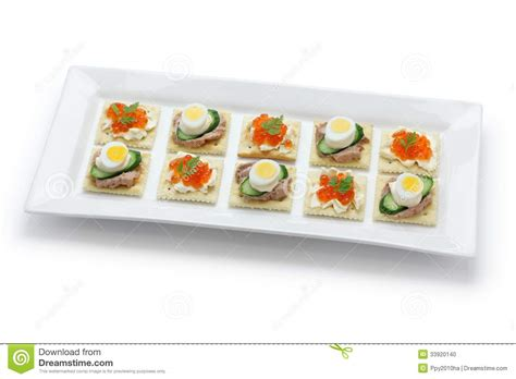 diy canapé assorted canape stock photo image 33920140