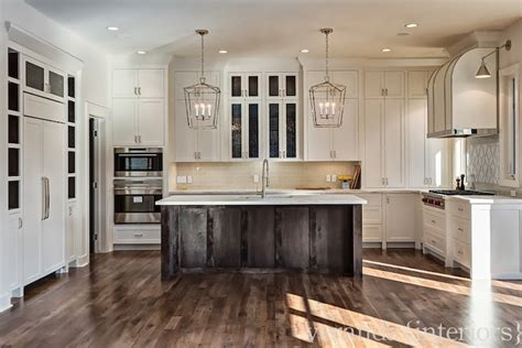 lighting a kitchen white espresso u shaped kitchen gray glass backsplash 3769