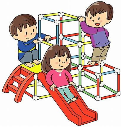 Clipart Gym Jungle Children Playing Play Seesaw