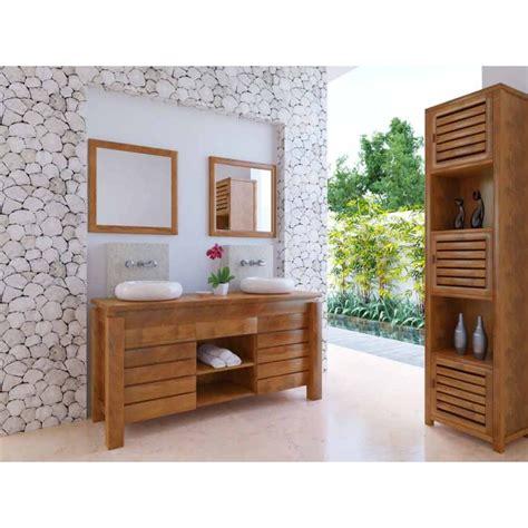 canapé fixe meuble bas de salle de bain teck légian