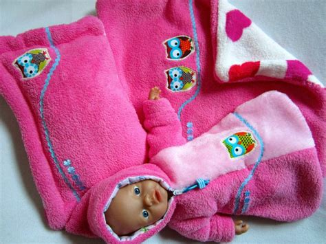Für Baby Born Puppe 32 Schlafsack Plus Kissen Und Decke