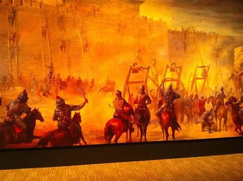 siege mural rabattable file mural of siege warfare genghis khan exhibit tech museum san jose 2010 jpg