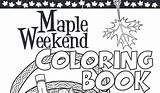 Maple Syrup Coloring Kid Weekend sketch template