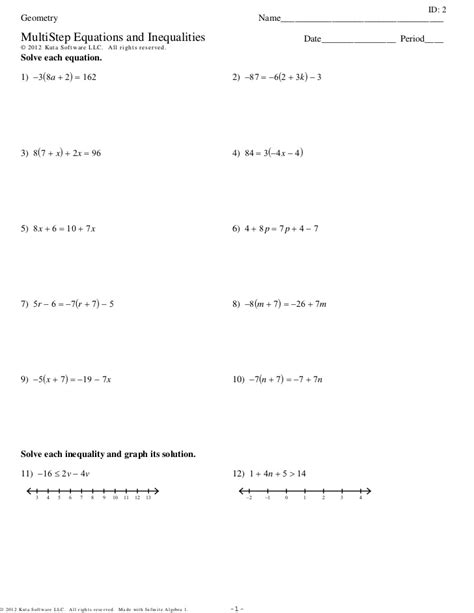 solving radical equations and inequalities worksheet