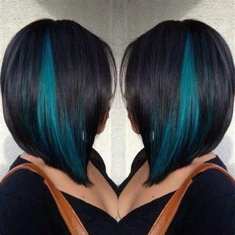 Best 25 Teal Hair Streaks Ideas On Pinterest Green Hair