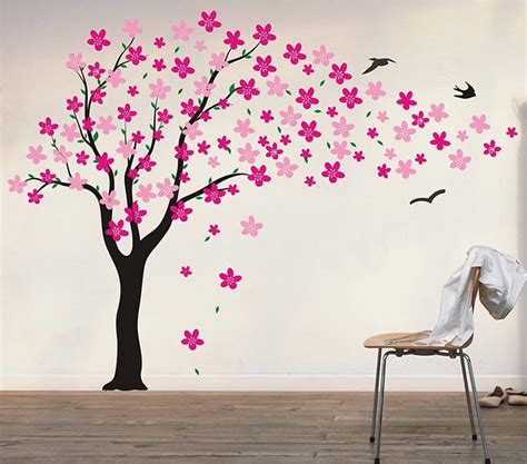amazoncom pop decors drifting flowers  birds tree