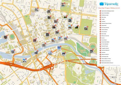 melbourne printable tourist map    tourist