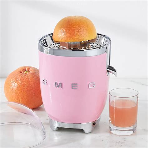 smeg pink citrus juicer reviews crate  barrel