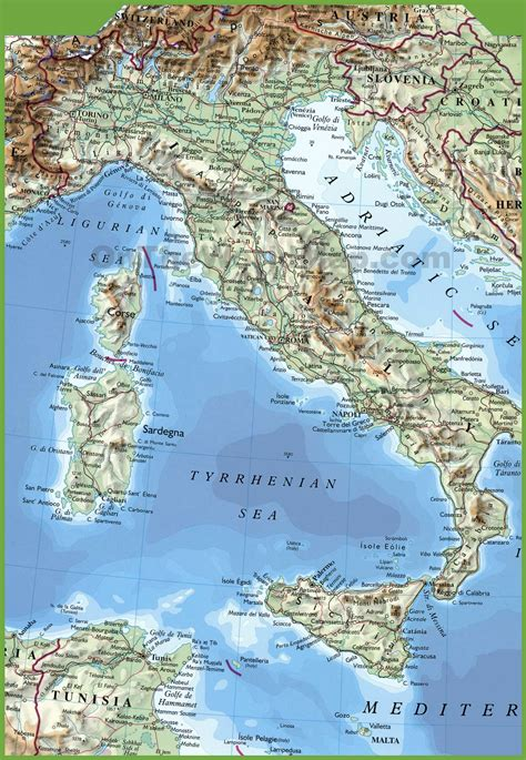 printable map  italy  travel information
