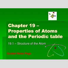 Ppt  Ch 18 Properties Of Atoms And The Periodic Table Powerpoint Presentation Id5481887