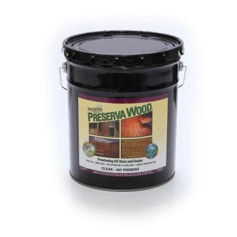wood sealant home depot preserva wood 5 gal clear penetrating oil based stain and sealer 40501 the home depot