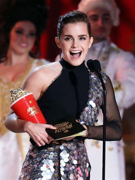 Emma Watson Dress Mtv Awards Silver Sequined