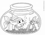 Fish Coloring Bowl Pages Fishbowl Printable Clipart Educative Clip Outline Template Easy Kinderart Fisch Ausmalbilder Empty Popular sketch template