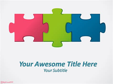 powerpoint puzzle pieces template  editable jigsaw