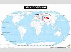 Where is Latvia Located? Location map of Latvia