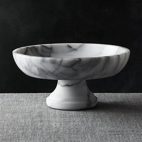 french kitchen marble fruit bowl crate  barrel