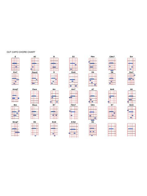 capo chart template   templates   word excel