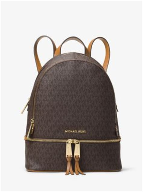 rhea medium logo backpack michael kors
