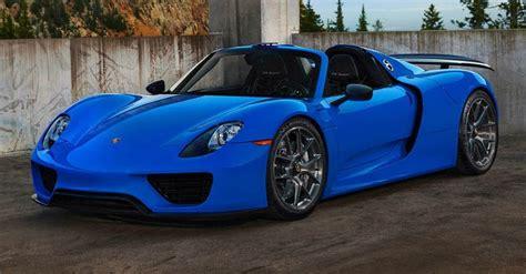 blue porsche spyder voodoo blue porsche 918 spyder brings the magic on custom