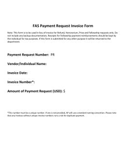 payment request number invoice