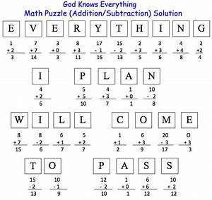 Math Puzzle (Addition/Subtraction) Solution :: Discover ...