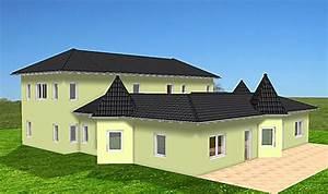 Bungalow Mit Atrium : atrium 289 30 12 ansicht 3 4 bungalow mit turm schloss einfamilienhaus neubau massivhaus stein ~ Indierocktalk.com Haus und Dekorationen