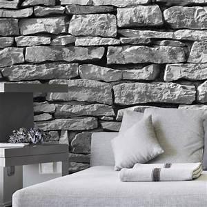 Graue Tapete Schlafzimmer : steintapete grau schlafzimmer ~ Michelbontemps.com Haus und Dekorationen
